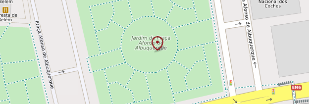 Carte Jardim Afonso de Albuquerque - Lisbonne