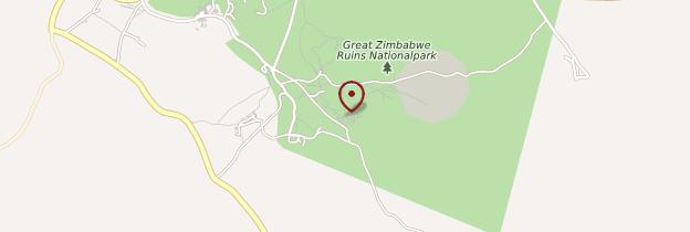 Carte Great Zimbabwe National Monument - Zimbabwe