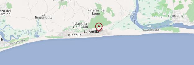 Carte Andalousie Islantilla.La Antilla Costa De La Luz Guide Et Photos Andalousie