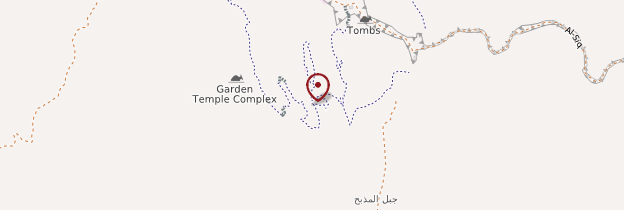 Carte Haut lieu du Sacrifice (Madhbah) - Jordanie