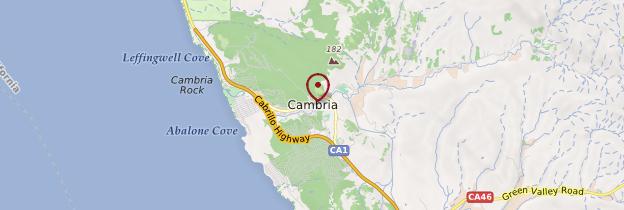 Carte Cambria - Californie