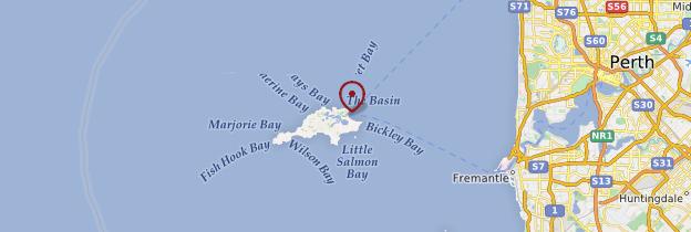 Carte Rottnest Island - Australie