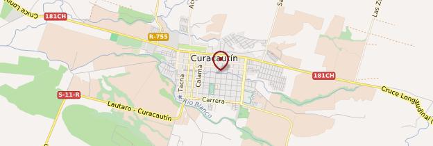 Carte Curacautin - Chili