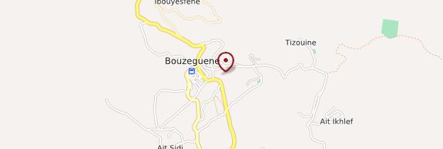 Carte Bouzeguene - Algérie