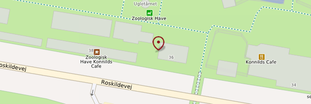Carte Zoo de Copenhague - Copenhague