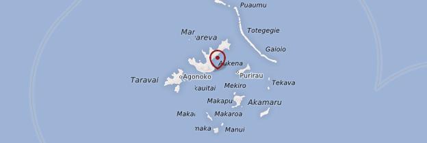 Carte Archipel des Gambier - Polynésie française