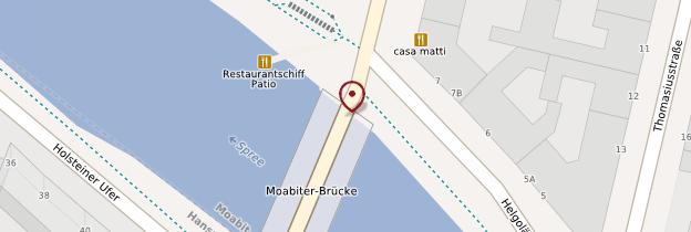 Carte Moabiter Brücke - Berlin