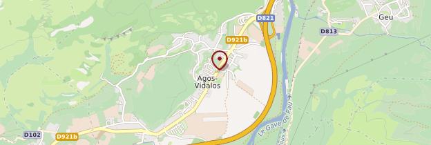 Carte Agos Vidalos - Midi toulousain - Occitanie