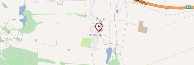 Carte Gammel Lejre - Danemark