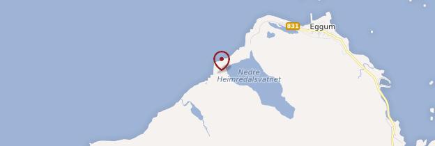 Carte Eggum - Norvège