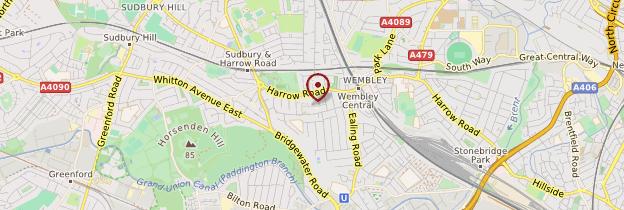 Carte Wembley - Londres