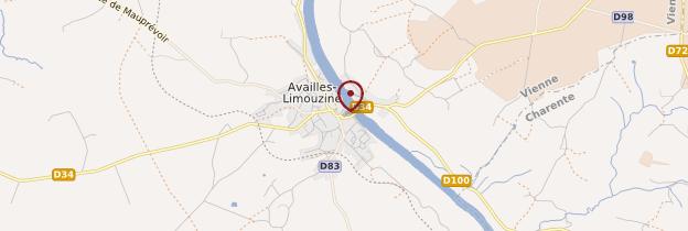 Carte Availles-Limouzine - Poitou, Charentes