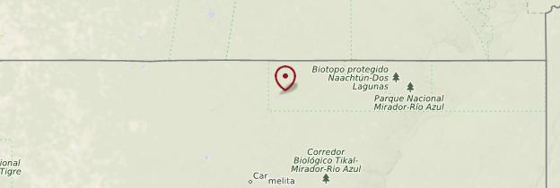 Carte Parc national El Mirador - Guatemala
