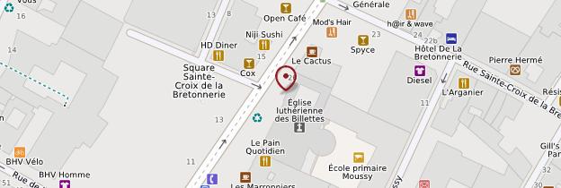 Carte Cloître des Billettes - Paris