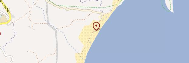 Carte Plage de Tsambika - Rhodes