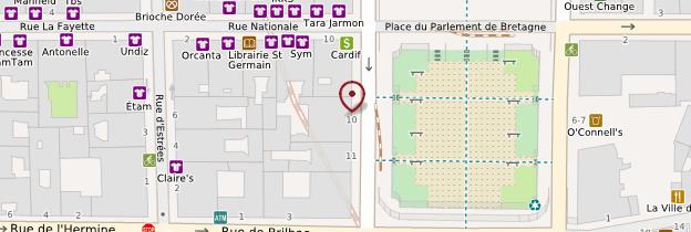 Carte Opéra de Rennes - Rennes