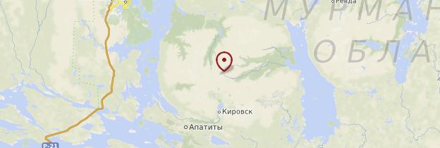Carte Massif des Khibiny - Russie