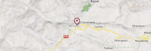 Carte Nayapul - Népal