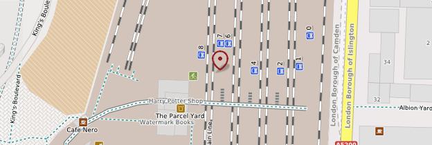Carte King's Cross railway station - Londres
