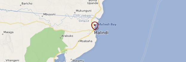 Carte Malindi - Kenya