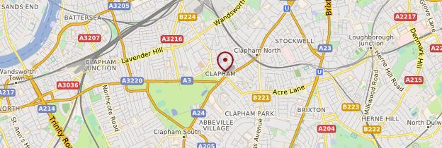 Carte Clapham - Londres