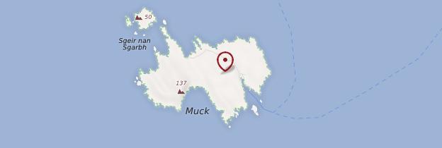 Carte Île de Muck - Écosse