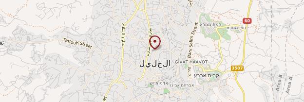 Carte Hébron - Israël, Palestine