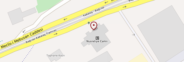 Carte Mosquée Nusretiye (Nusretiye Camii) - Istanbul