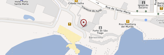 Carte Fort de São Tiago - Madère