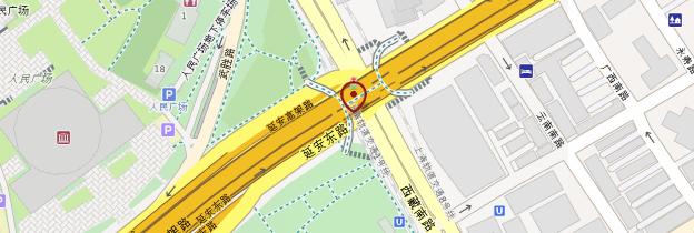Carte Place du Peuple - Shanghai