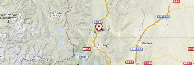 Carte El Bolsón - Patagonie