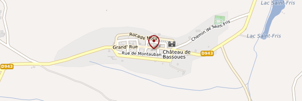Carte Bassoues - Midi toulousain - Occitanie