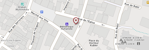 Carte Bibliothèque Humaniste - Alsace