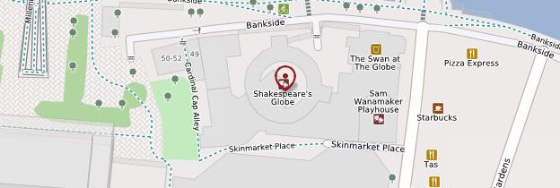 Carte Shakespeare's Globe Theatre - Londres