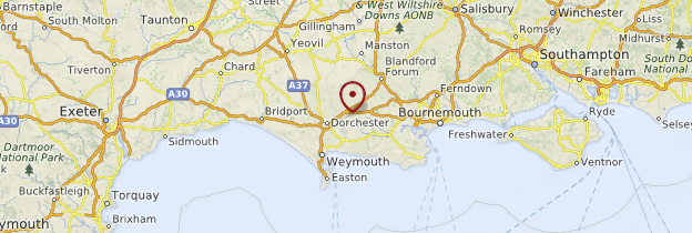 Carte Dorset - Angleterre