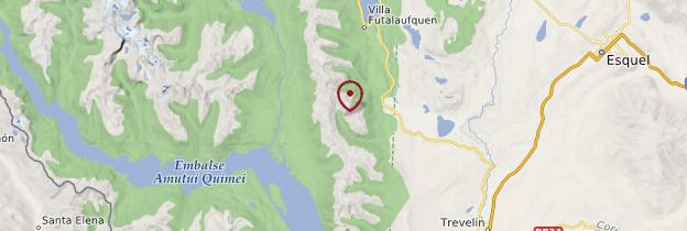 Carte Parc national Los Alerces - Patagonie