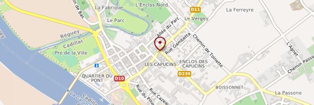 Carte Cadillac - Aquitaine - Bordelais, Landes