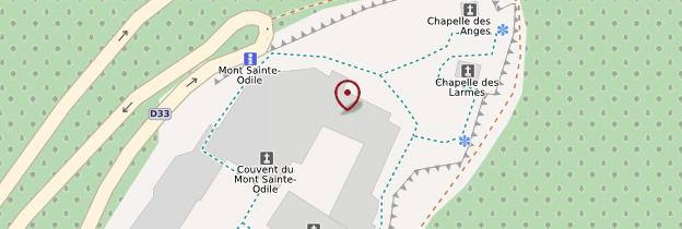 Carte Abbaye de Hohenbourg - Alsace
