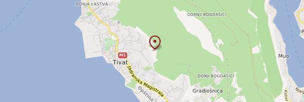 Carte Tivat - Monténégro