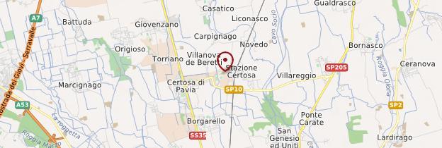 Carte Certosa di Pavia - Italie