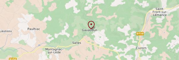 Carte Gavaudun - Aquitaine - Bordelais, Landes