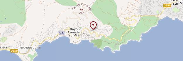 Carte Le Rayol-Canadel-sur-Mer - Côte d'Azur