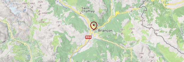 Carte Briançonnais - Alpes