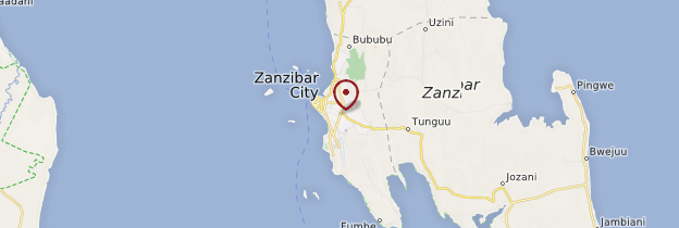 Carte Zanzibar Town (Stonetown) - Zanzibar