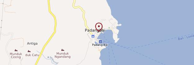 Carte Padangbai - Bali