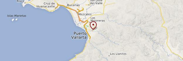 Carte Puerto Vallarta - Mexique