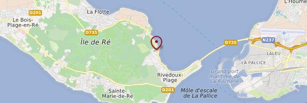 Carte Île de Ré - Poitou, Charentes