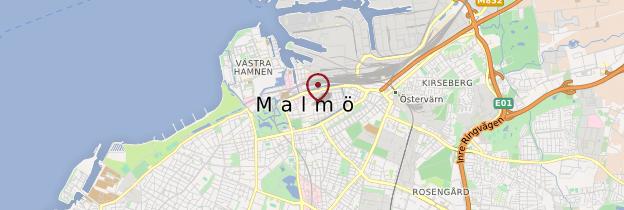 Carte Malmö - Suède