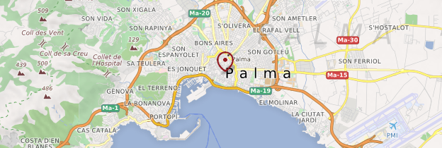 Carte Palma de Majorque (Palma de Mallorca) - Majorque
