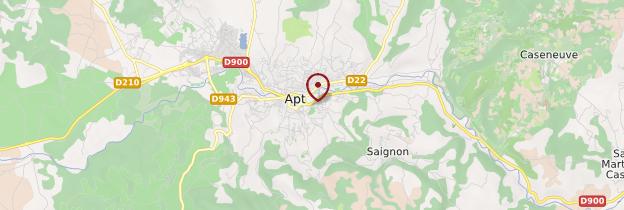 Carte Apt - Provence